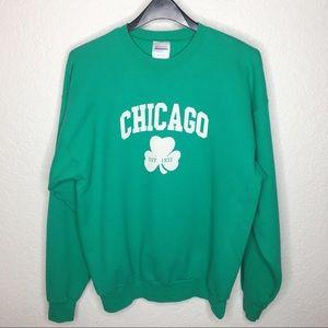 VINTAGE Chicago Graphic Sweatshirt L Green